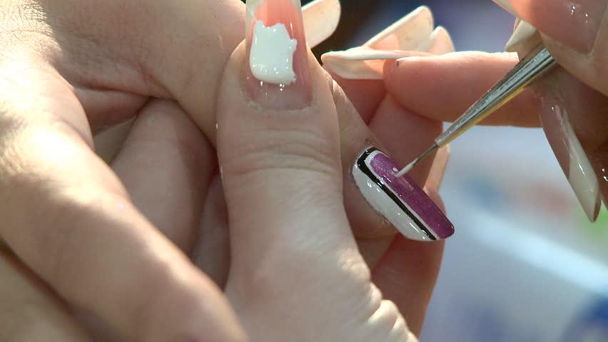 Stock Video Of Nail Art Manicure Making Nice Manicured 5873423