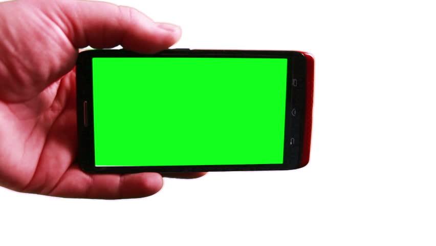 Using a Smart Phone with a Green Screen   Shutterstock HD Video #5904623