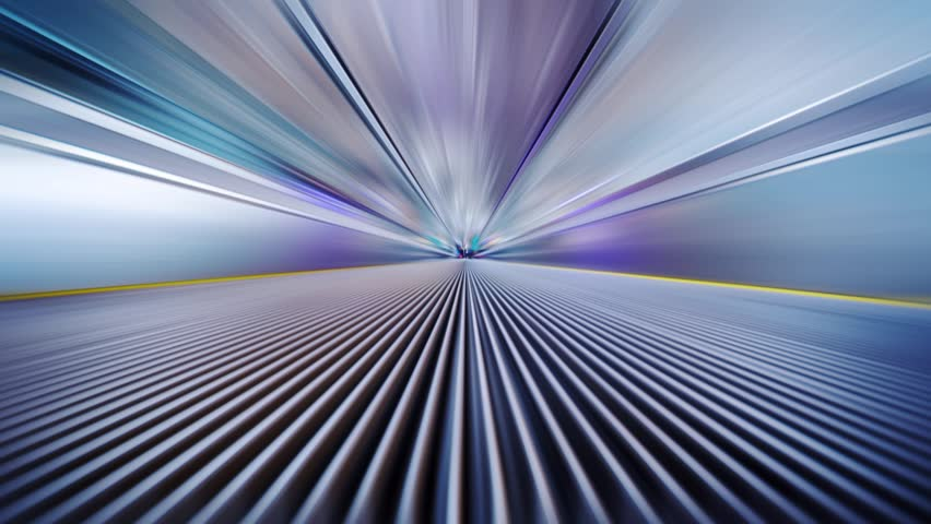 Futuristic Industrial Tunnel Zoom, Blurred Motion Abstract Background Stock Footage Video ...
