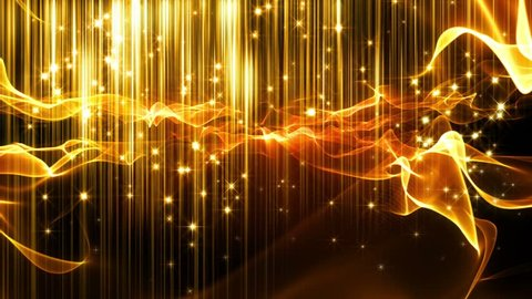 Abstract fantasy motion background, shining lights, glowing energy waves and sparkling fireworks stile particles.