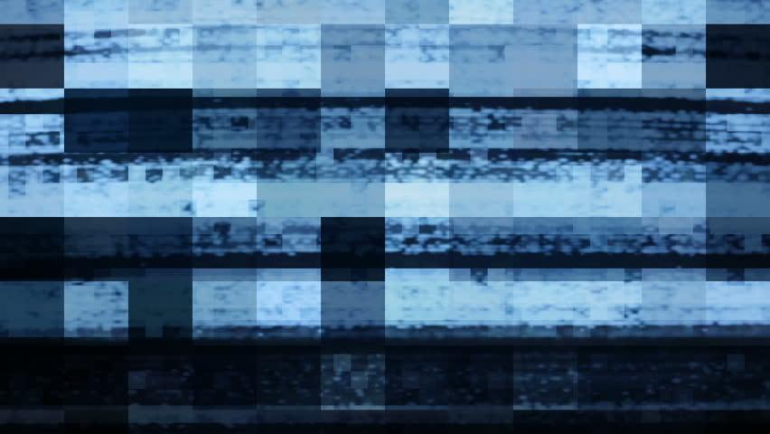 Digital video glitch matte.