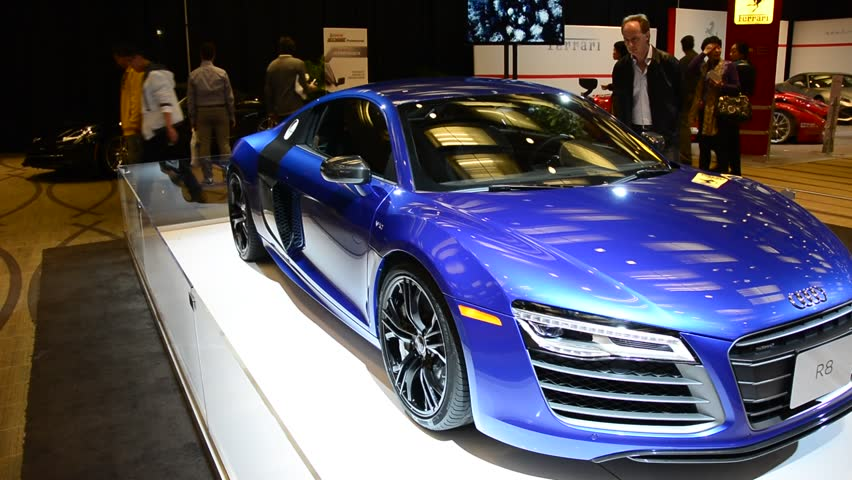 TORONTO,CANADA FEBRUARY 22, 2014: Audi R8 As Seen In The Canadian