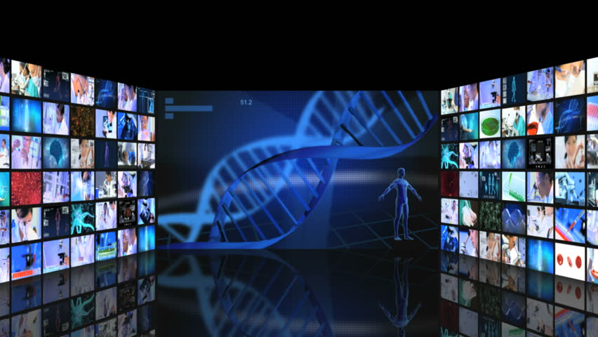 3D Video Wall Of Multi Ethnic Scientist Using Modern Technology ...