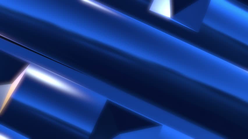 Chrome colored metallic blue background 3D Animated Computer Design Abstract Motion Background