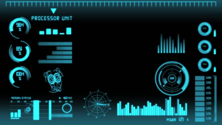 Intro technology interface screen with copy space | Shutterstock HD Video #6030182