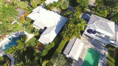 Aerial residential neighborhood Florida