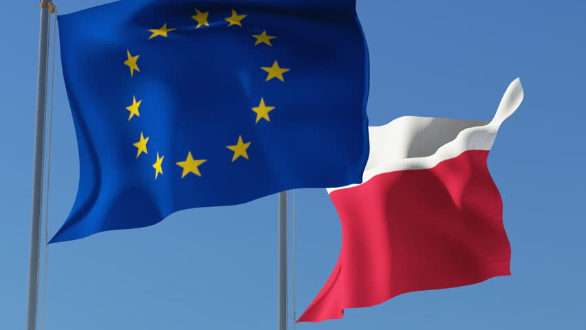Image result for Poland and EU flags, photos