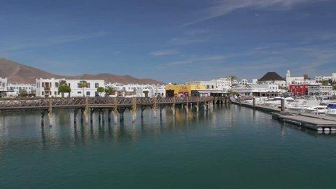 Pan of the Marina Rubicon, Playa Blanca, Lanzarote, Canary Islands, Spain
