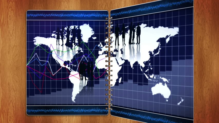 Geographic equirectangular world map projection example of land business concept in book with blue screen pages loop hd stock video clip gumiabroncs Images