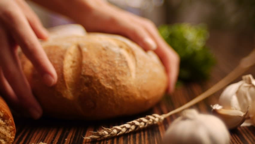 Stock video footage Bread and bakeries dolly shot.