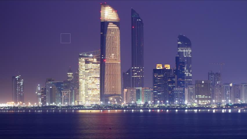 night light panoramic time lapse from abu dhabi