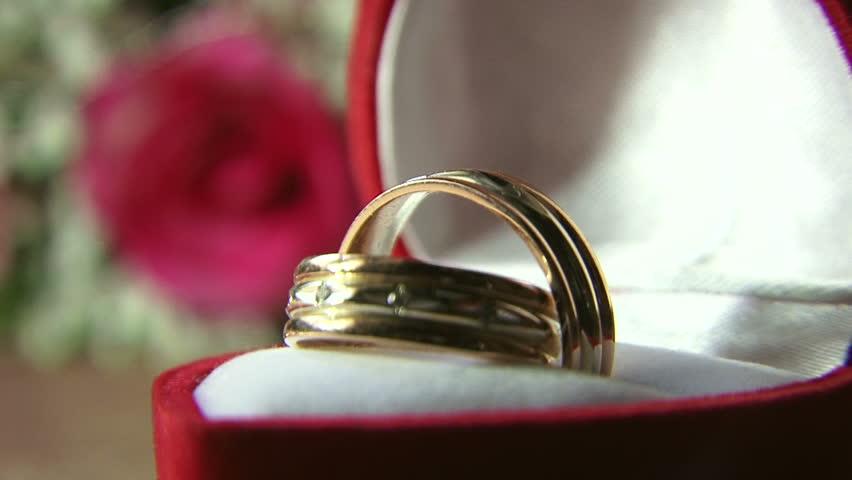 Rings Wedding rings in the case.