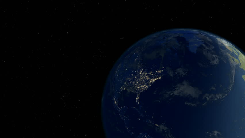 U.S. Huge Black Out (4K) - A massive power outage strikes nearly the entire the United States as seen from Space.  Ultra-realistic quality animation in 4K created in MAYA.