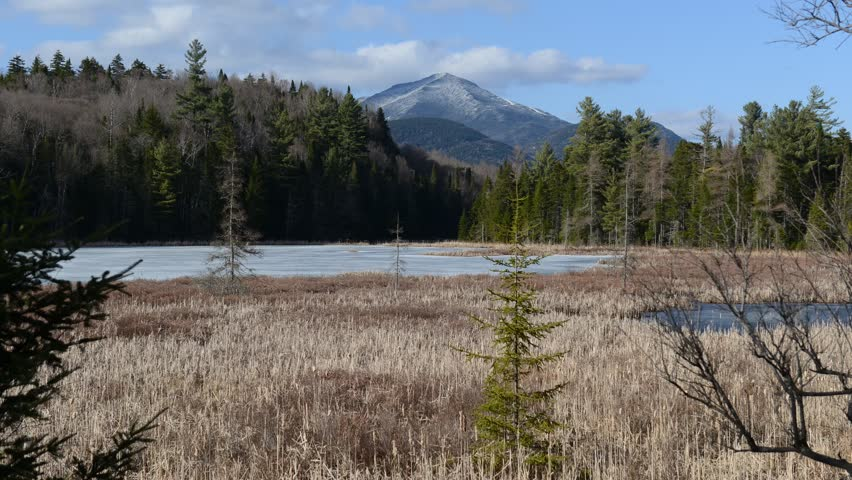 Time lapse video in the Adirondacks with Whiteface Mountain, New York