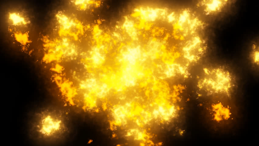 HD Particle Effects Simulating Fire, Smoke And Flames On Black ...