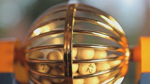 Bingo Machine close up