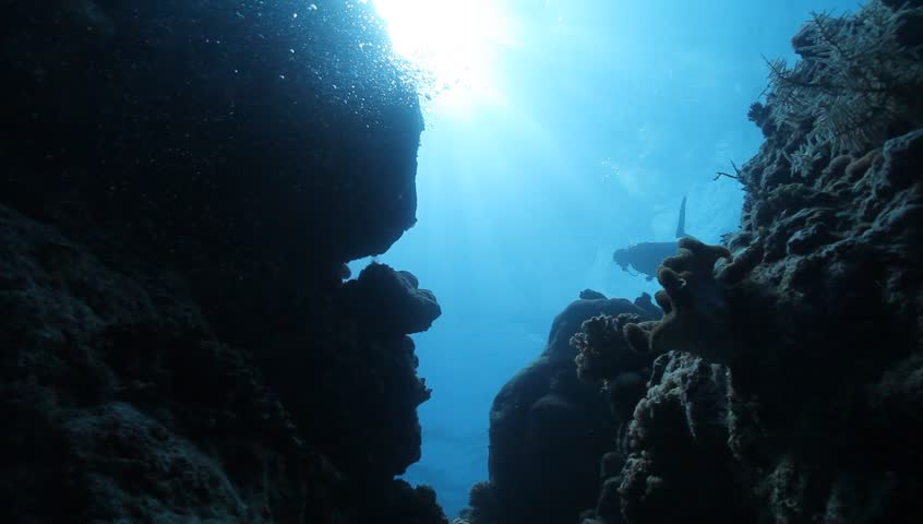 MS wall and diver silhouette | Shutterstock HD Video #6205793