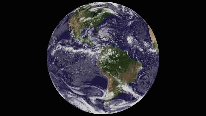 CIRCA 2010s - NASA Animation of a globe spinning from space with an emphasis on global warming and climate.