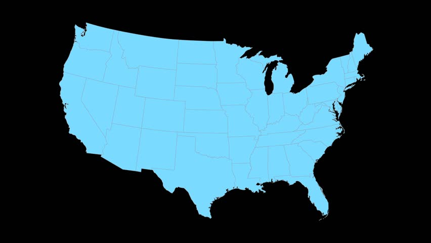 Maryland Animated Map Video Starts With Light Blue USA National - Maryland in us map