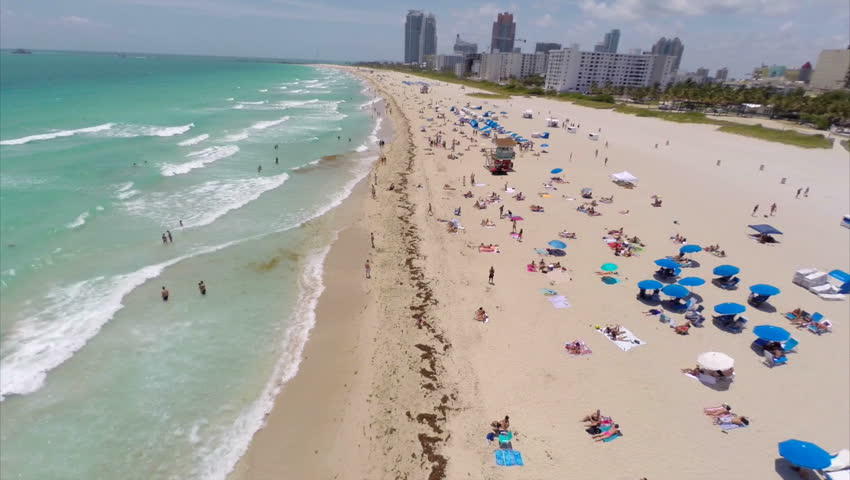 Aerial video of Miami Beach and South Beach