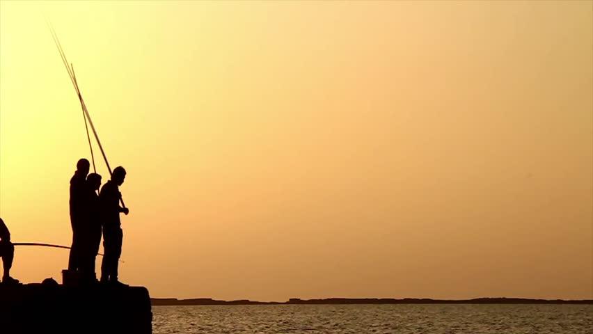Fishing silhouettes  | Shutterstock HD Video #6242453