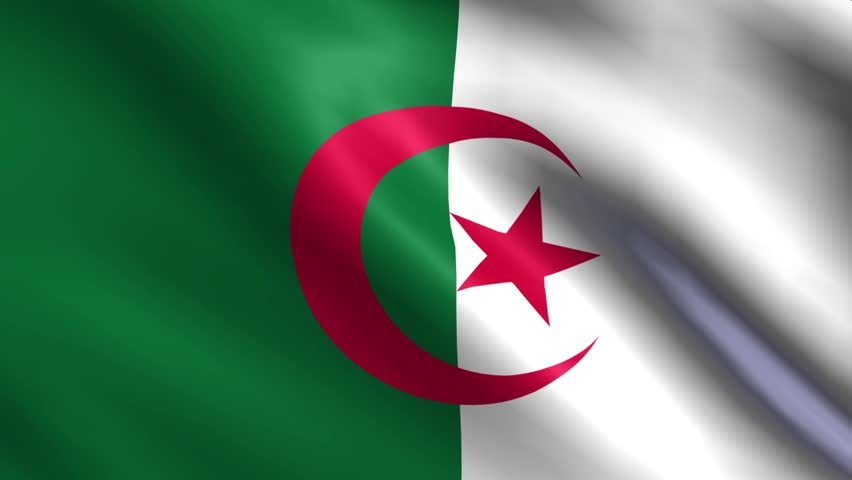Flag Of Algeria Background Seamless Loop Animation | Shutterstock HD Video #6262643