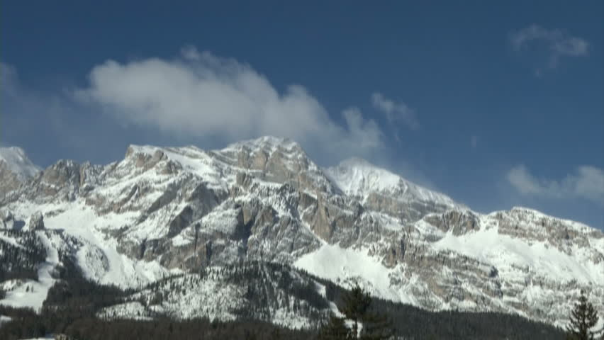Winter landscape, with Dolomites mountains full of snow  | Shutterstock HD Video #6292043