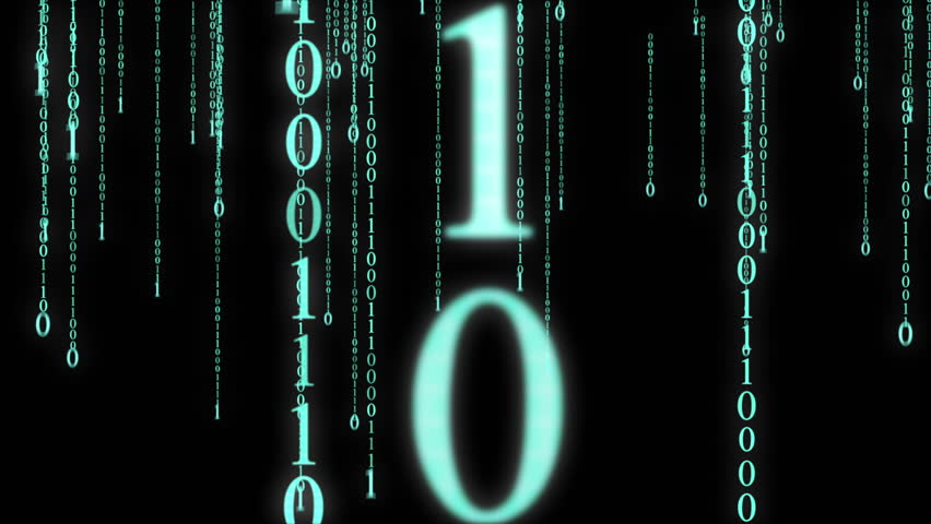 Animated background featuring a particle rain of binary numbers falling simulating the matrix effect.