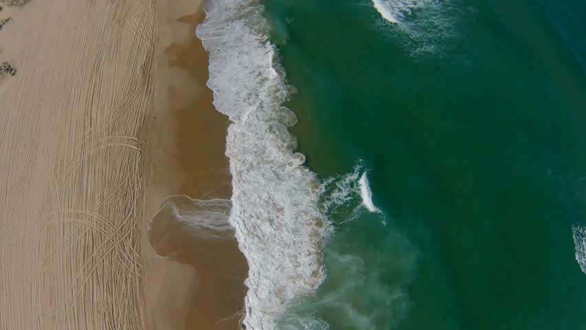 Aerial view of Mediterranean Sea beach, Israel. top view   Shutterstock HD Video #6309197