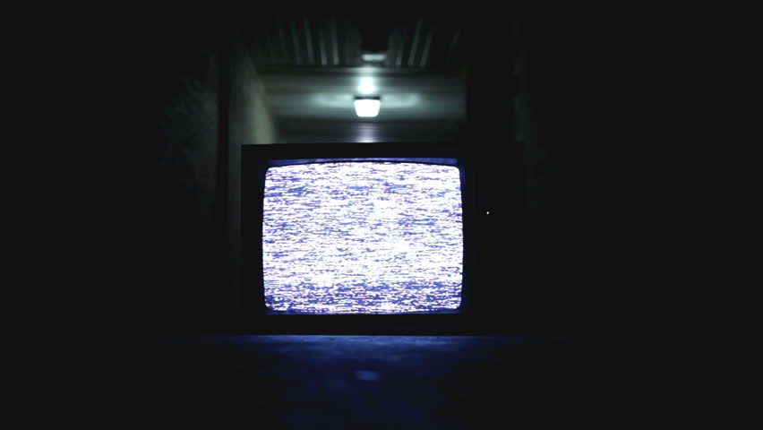 Old television on in hallway | Shutterstock HD Video #6358913