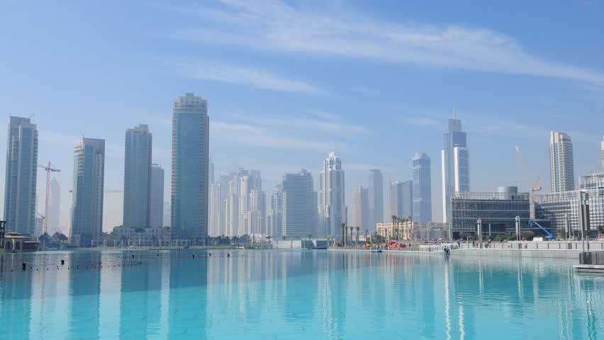 Downtown Burj Dubai or Downtown Burj Khalifa, Dubai United Arab Emirates, time lapse video taken in January 2010