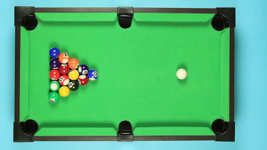 Collection Of Top View On Fail Hitting Billiard Ball On Pool Table Stock  Footage Video 6498353 | Shutterstock