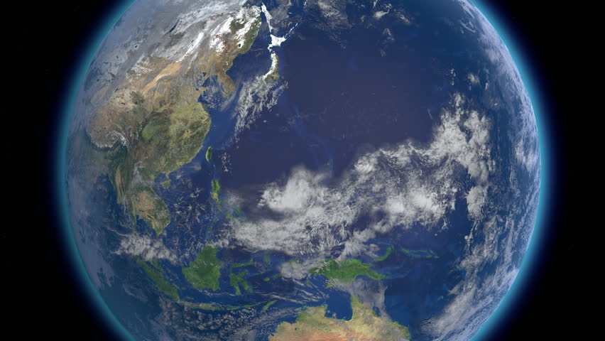 Planet Earth rotates, zoom to Asia 4K Ultra HD. Elements of this image furnished by NASA.