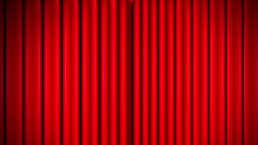 Highly Detailed 3d Animation Of Red Curtain Opening And Closing ...