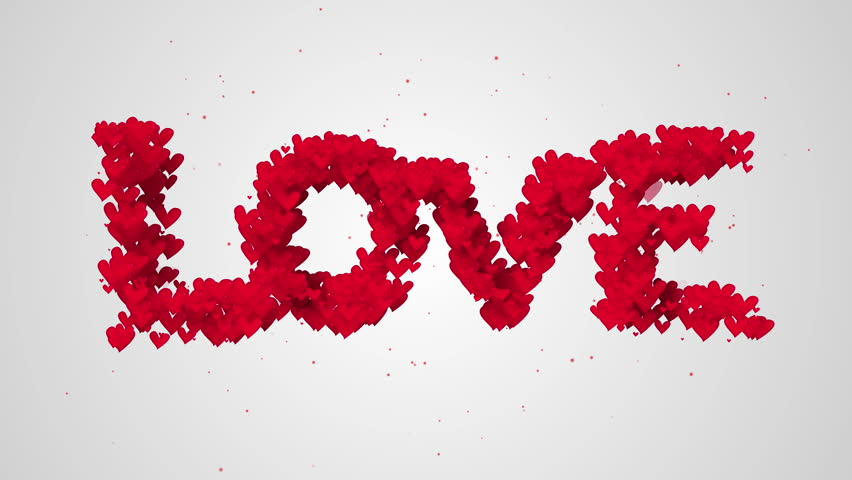 Love Particles 3D animation - 4K Resolution Ultra HD