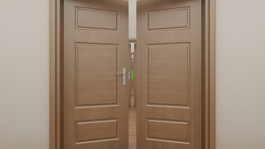 Pass enfilade open 14 doors. Green screen. - HD stock footage clip & Open Door And Go Out To White Light Stock Footage Video 12006695 ... Pezcame.Com