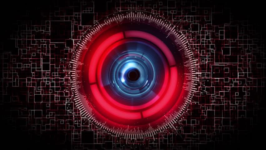 futuristic science fiction robot eye stock footage video