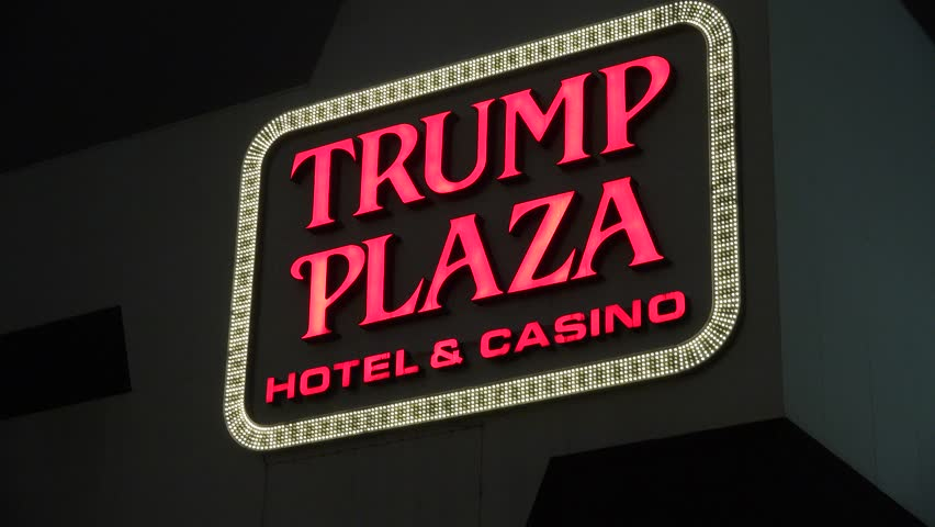 Atlantic City, New Jersey/USA – June 02 2014: Trump Plaza Casino Hotel Sign on June 02 2014 in Atlantic City, New Jersey, USA | Shutterstock HD Video #6582173