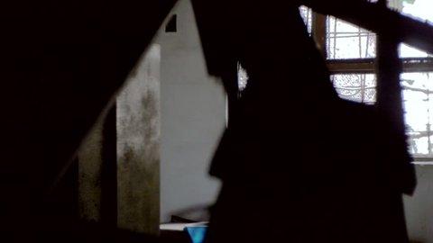 Moving Shot of Inside of Gonjiam, Abandoned Insane Asylum, South Korea