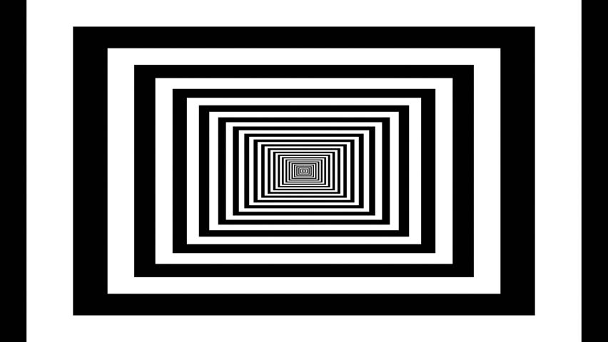 Concentric rectangles aspect ratio 16:10 optical  visual  looping illusion.