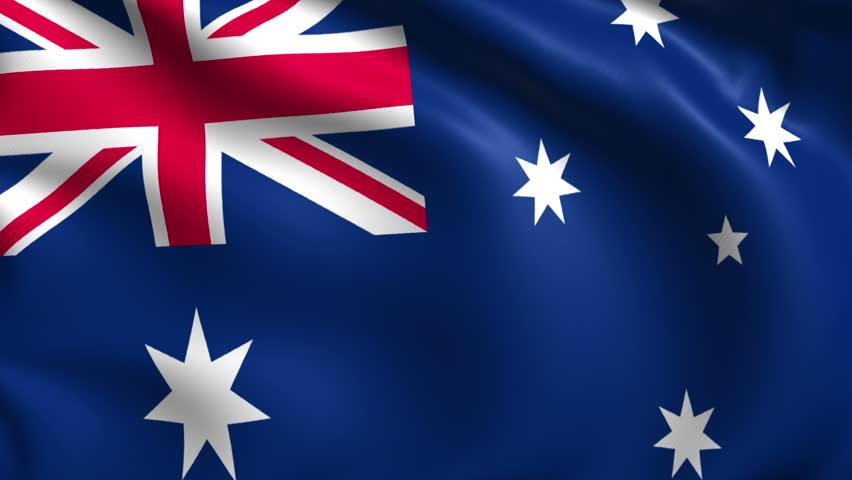 Australia Flag Stock Footage Video   Shutterstock