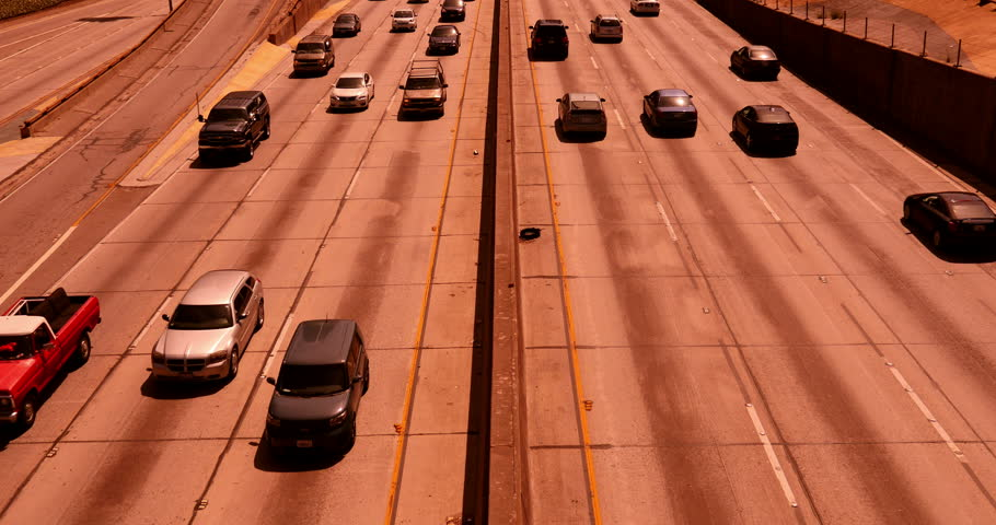 Freeway Traffic 22 Los Angeles Downtown | Shutterstock HD Video #6659633