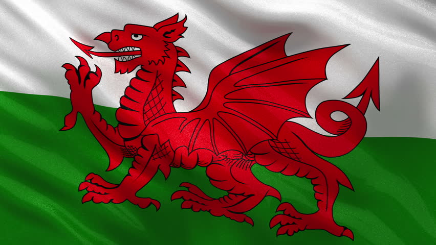 Welsh Flag Stock Footage Video | Shutterstock