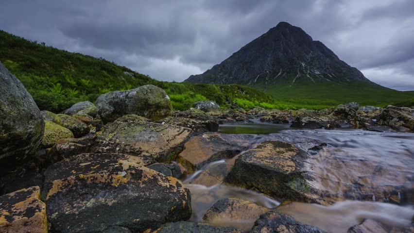 Timelapse of Buchaille Etive Mor in Scotland