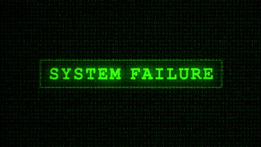 Stock Video Of System Failure Text Digital Data
