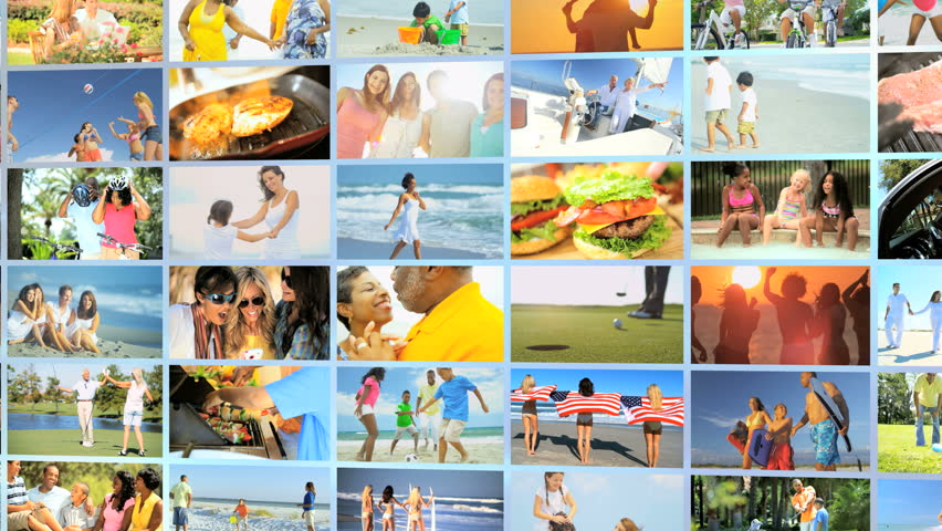 hispanic family activities. 3D Video Wall Montage Of Caucasian, African American, Hispanic Family Outdoor Fitness Healthy Beach Activities I