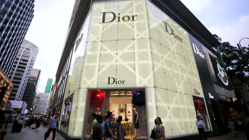 HONG KONG, CHINA - CIRCA JUNE 2014: Dior store. Founded in 1947 by Christian Dior, it's one of world's top fashion brands which includes women's clothing, menswear, jewelry and perfume.