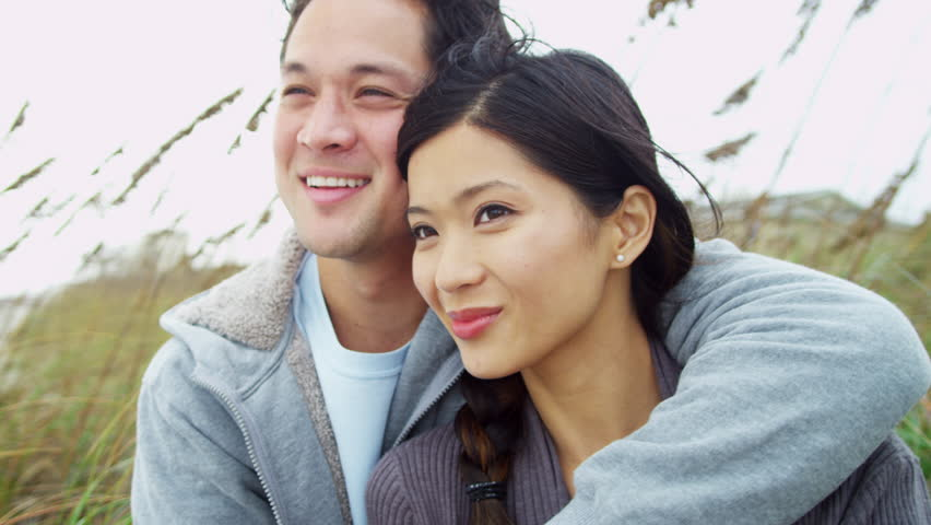 Loving Young Attractive Asian Chinese Stock Footage Video -5346