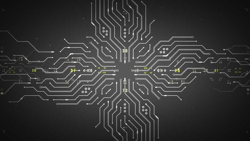 An Abstract Illustration Of Computer Circuitry Designed To Imply ...