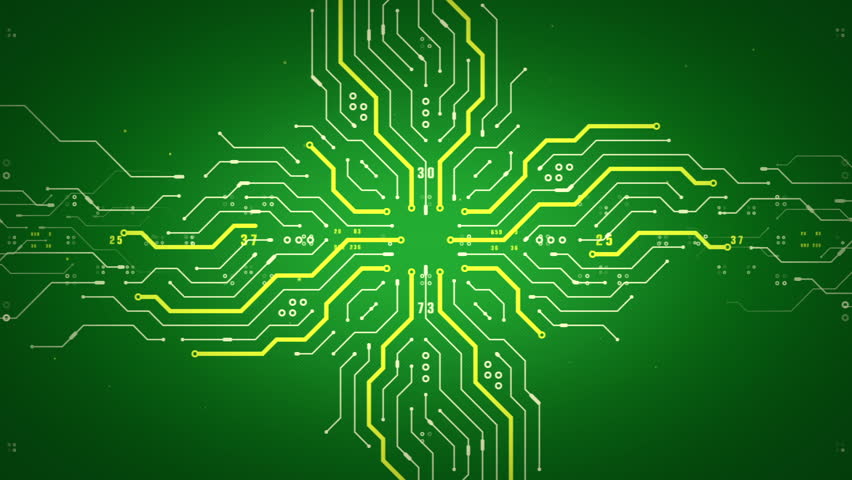 Stock video of an abstract illustration of computer circuitry ...